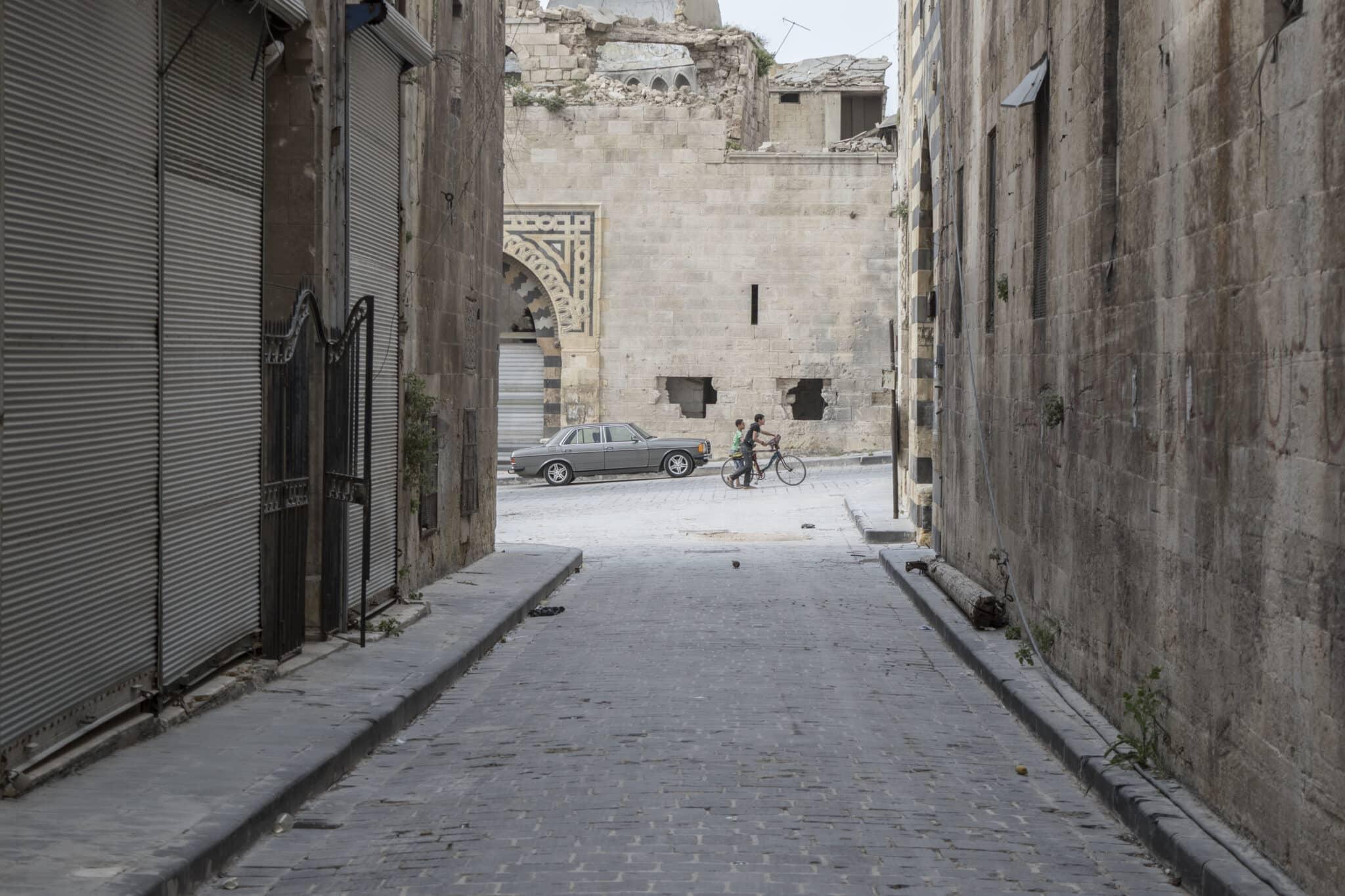 Una callejuela de Alepo viejo