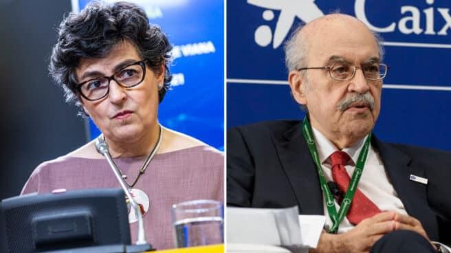 La ministra González Laya y el ex 'conseller' Andreu Mas-Colell.