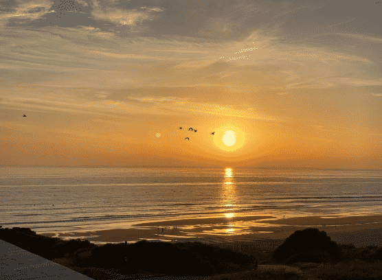 Vistas de la playa de La Barrosa (Chiclana de la Frontera) desde 'El Cuartel del Mar