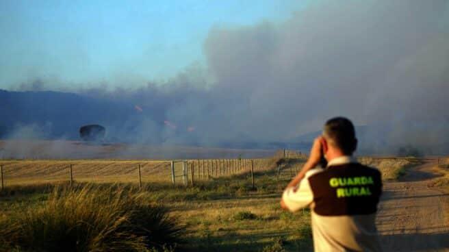 Incendio en Monte Yerga (La Rioja).