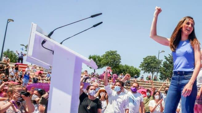 La ministra Ione Belarra, el día que fue proclamada secretaria general de Podemos.