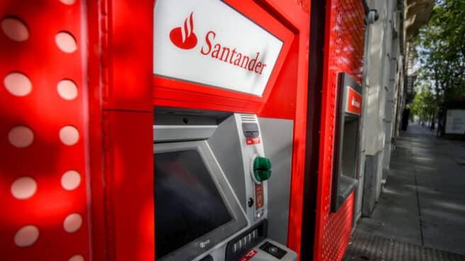 Un cajero del Banco Santander.