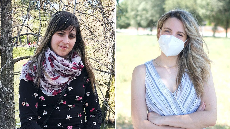 Cristina y Carla, dos jóvenes de 26 y 27 años que llevan más de un año con Covid persistente.