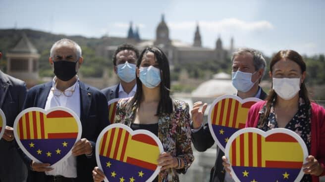 Inés Arrimadas junto a algunos miembros del Comité Ejecutivo de Ciudadanos.