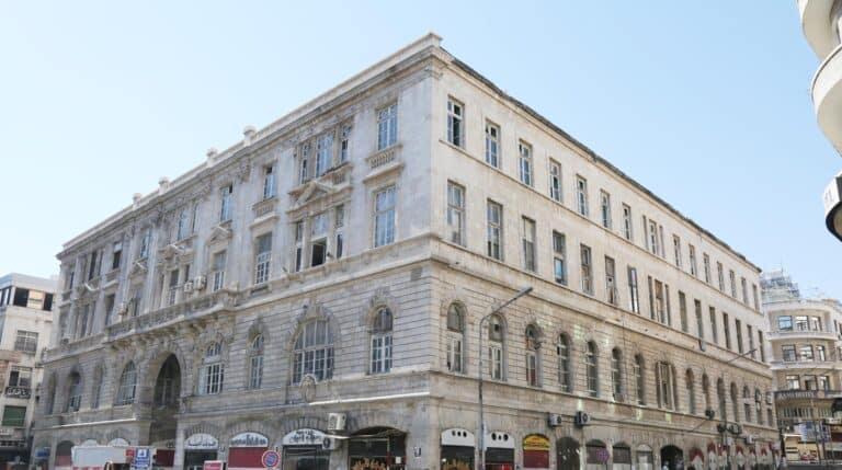 Imagen actual del edificio de El Abid en el centro de Damasco