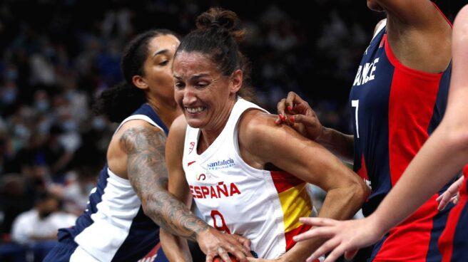 Laia Palau, durante un partido de preparación de España para los Juegos Olímpicos de Tokio.