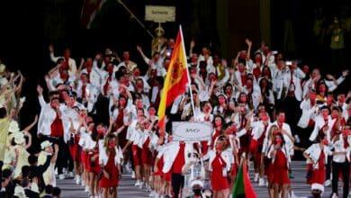 España entra en el Estadio Olímpico en la 88ª posición, siguiendo el alfabeto japonés