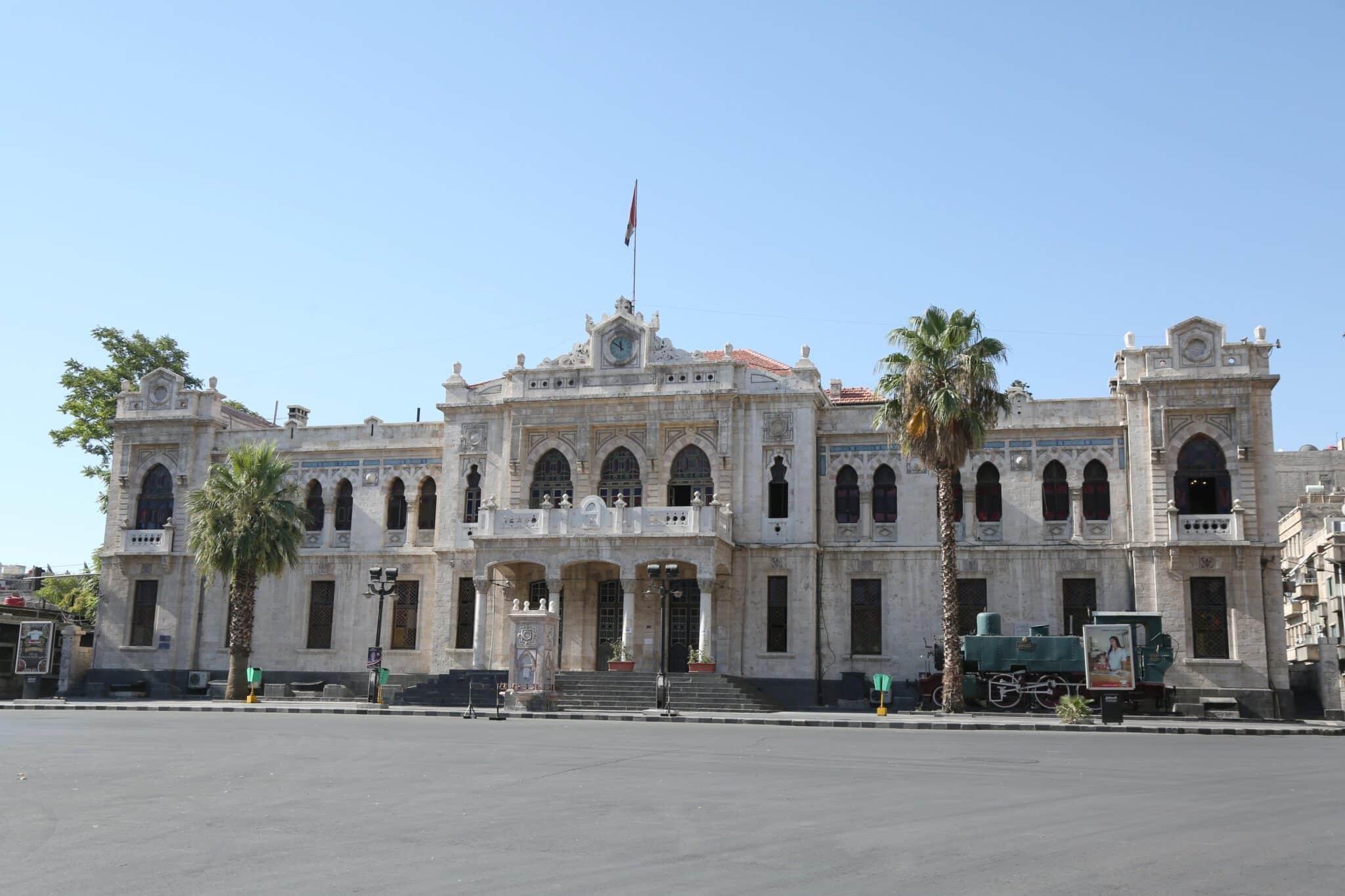 Estación de tren de Hiyaz en el centro de Damasco (Siria)