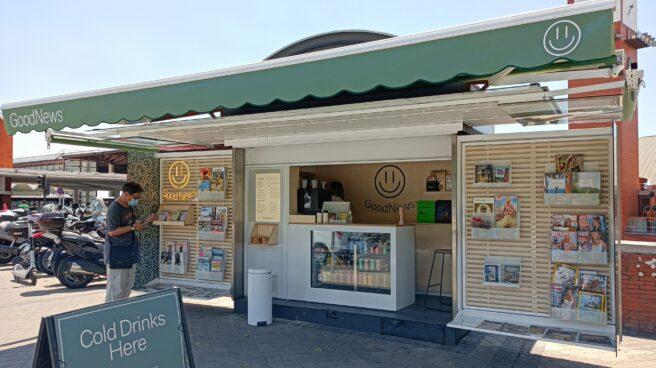 Imagen del quiosco GoodNews Coffee en Atocha.