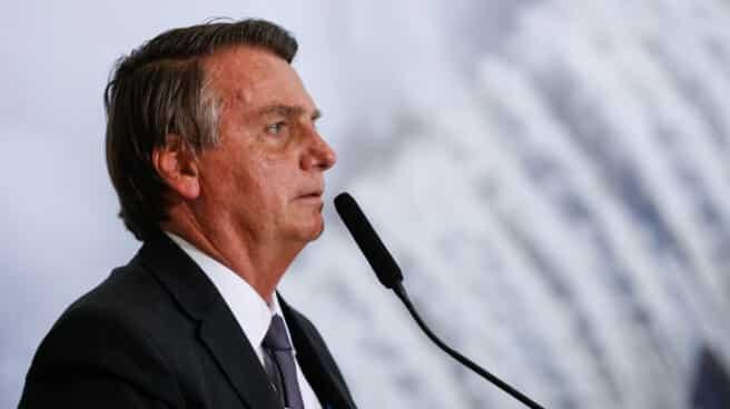 El presidente de Brasil, Jair Bolsonaro, durante un evento en el Palacio de Planalto (Brasilia)