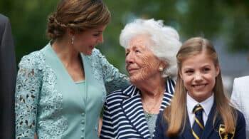 Muere la abuela de la reina Letizia, Menchu Álvarez del Valle