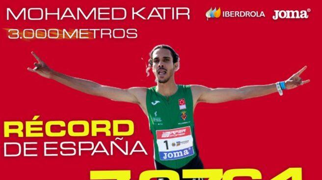 Mohamed Katir bate el récord de España de 3.000 metros.