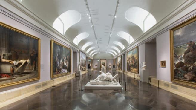 Sala 75 del Museo Nacional del Prado después de la reordenación de la colección del siglo XIX