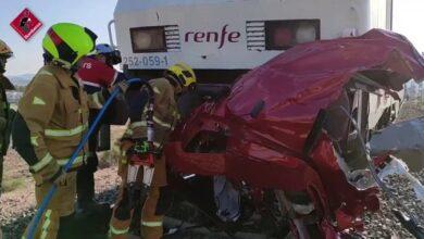 Tres mujeres y un hombre mueren tras una colisión entre un tren y un vehículo en Novelda