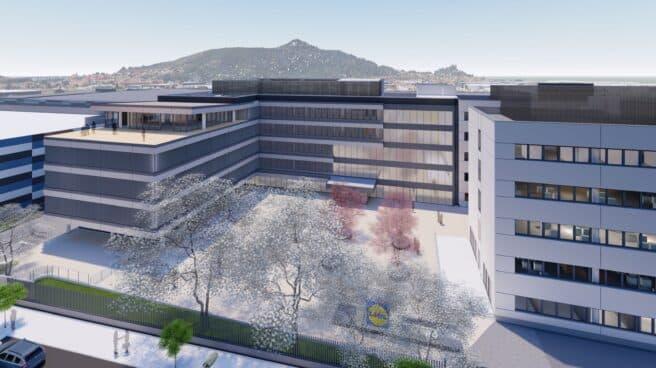 Imagen recreada de las oficinas centrales de Lidl.