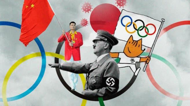 Collage de la geopólita de los juegos olímpicos