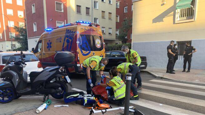 Accidente en patinete en Madrid.