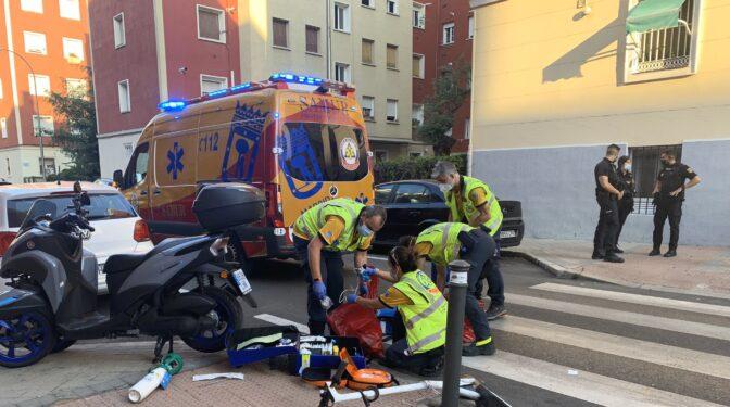Atropellado un joven de 25 años en Madrid mientras montaba en patinete
