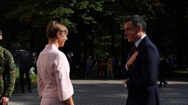 Pedro Sánchez, durante su viaje oficial a Estonia.