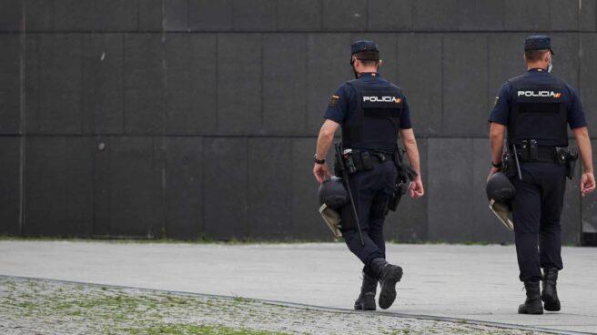 Agentes de la Policía Nacional, durante un servicio.
