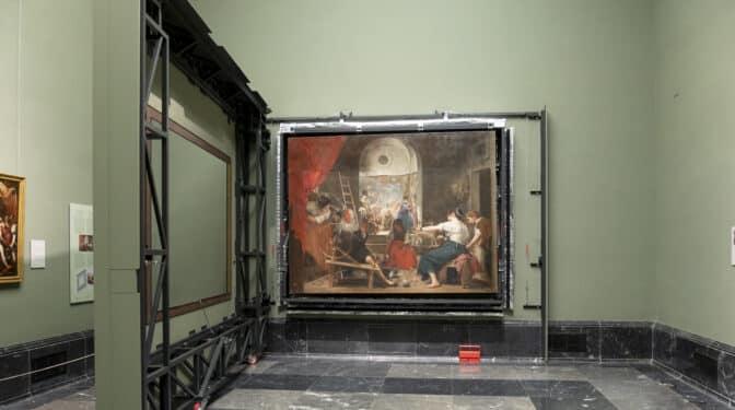 'Las hilanderas' de Velázquez, restituidas por el Prado en 'versión original'