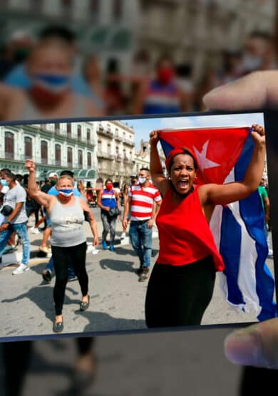 Golpes contra móviles: el 11-J cubano