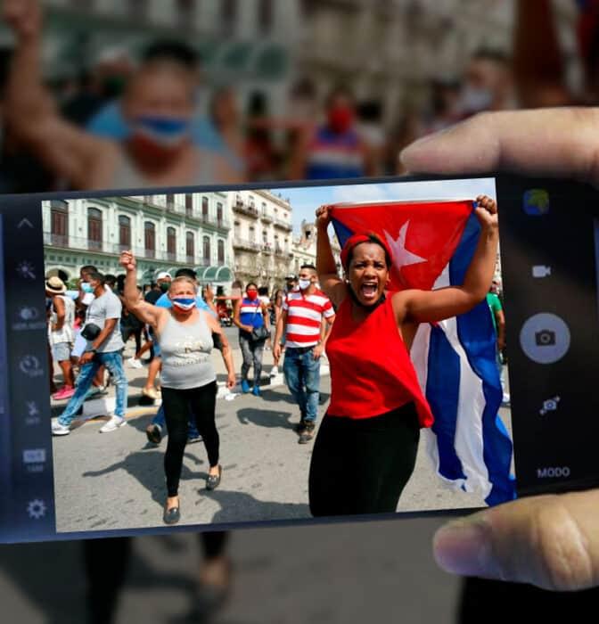 Golpes contra móviles: la revuelta cubana del 11-J