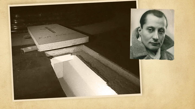 Sepulcro habilitado a los pies del altar mayor de la basílica del Valle de los Caídos en el que se encuentran los restos de José Antonio desde marzo de 1959.