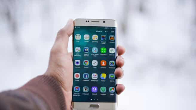 Aplicaciones en un teléfono Android.