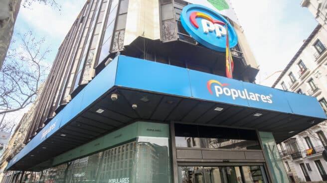 Sede nacional del Partido Popular en la calle Génova.