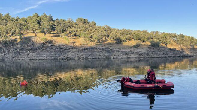 Operativo de búsqueda en el río Lozoya.