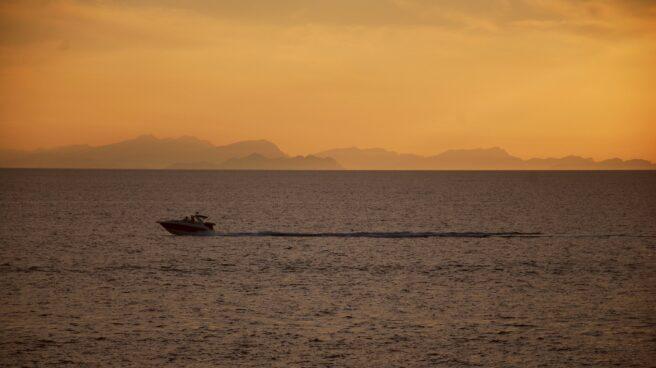Atardecer en playa española