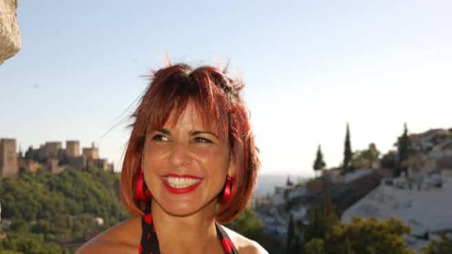 Teresa Rodríguez en Granada, durante la refundación de Adelante Andalucía