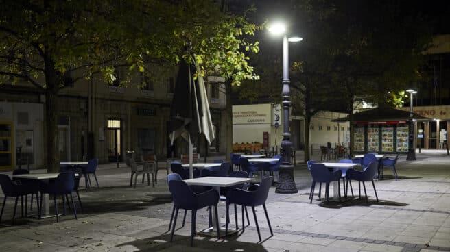 Terrazas en Santander durante el toque de queda de octubre