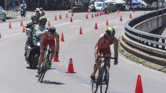 El triatlón será una de las bazas de España en los Juegos Olímpicos de Tokio. En la imagen, una prueba de la Copa del Mundo en Madrid.
