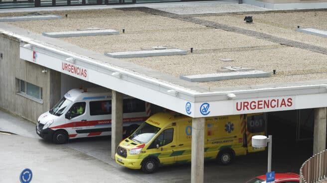 Ambulancias en el Hospital Marqués de Valdecilla (Cantabria)