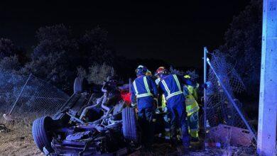 Muere un joven tras salirse su coche de la carretera en Valdemorillo