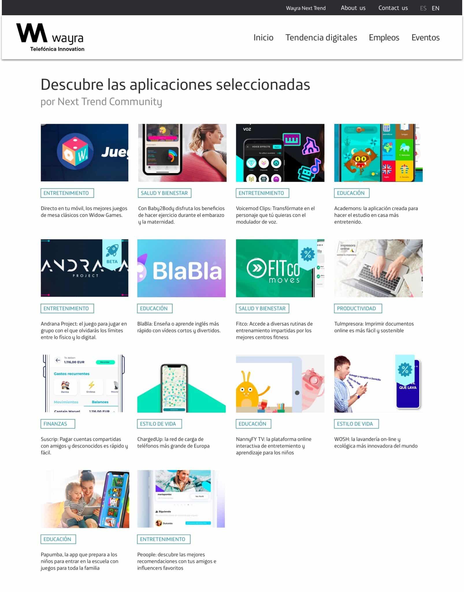 Wayra, la aceleradora de Telefónica, celebra su décimo aniversario con Next Trend, una plataforma que aspira a crear comunidad alrededor de las apps de su catálogo.