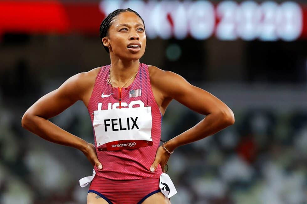 Allyson Felix en los Juegos de Tokio