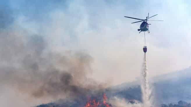Incendio en la N-502 a la altura de Ávila