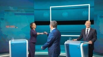 El vicecanciller Olaf Scholz gana sin entusiasmar el primer debate en Alemania