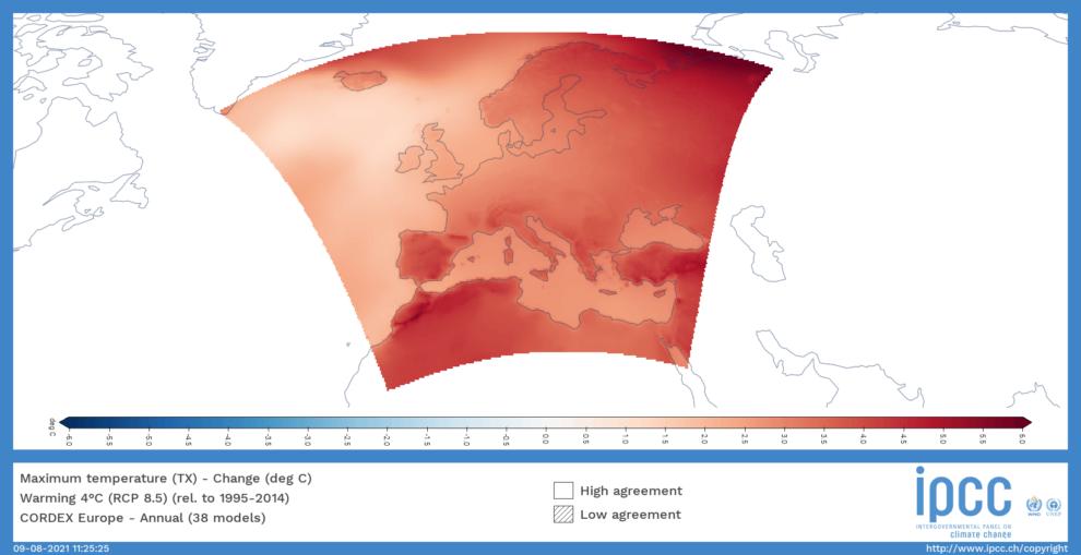 Mediterráneo en el escenario de la subida de 4º de temperatura media del planeta.