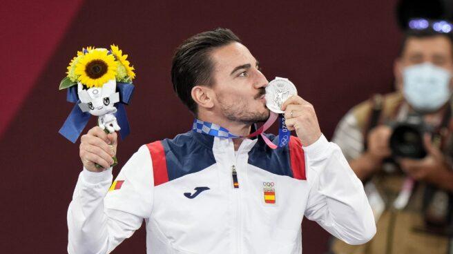 Damián Quintero, con la medalla de plata de los Juegos de Tokio