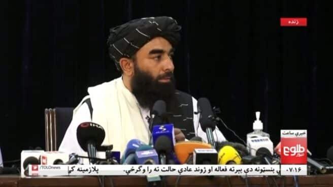 Zabihullah Mujahid, portavoz del grupo yihadista
