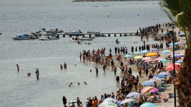 Cadena humana en defensa del Mar Menor.