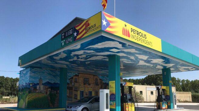 Imagen de una de las gasolinera de Petrolis Independents, en concreto la situada en Bescanó (Girona)