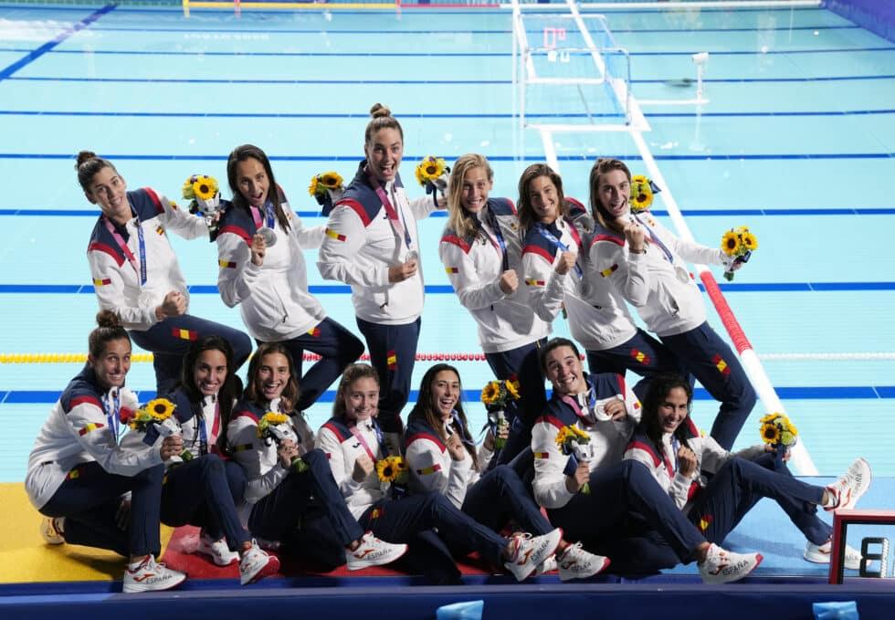 La selección femenina de waterpolo, plata en Tokio