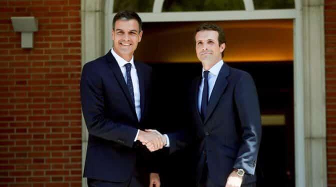 Sánchez y Casado arrancan en octubre y en Valencia la recomposición del bipartidismo