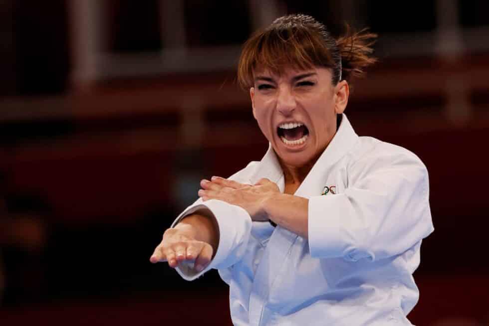 La karateca Sandra Sánchez, en los Juegos Olímpicos de Tokio