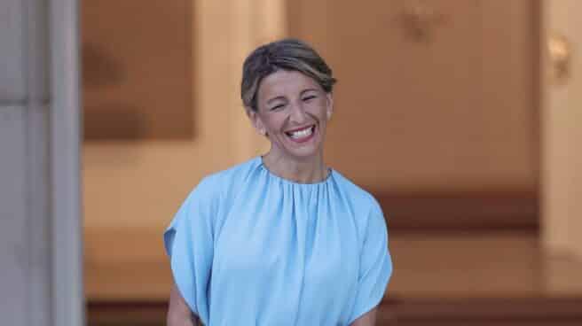 La vicepresidenta segunda del Gobierno y ministra de Trabajo y Economía Social, Yolanda Díaz, en el Palacio de la Moncloa.